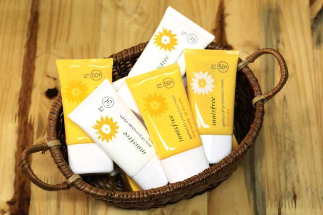 kem chống nắng innisfree review